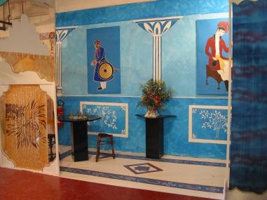 décor salon Bleu